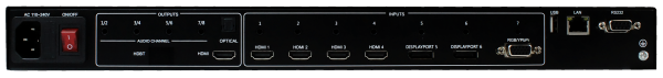 Back Panel View of MV71-4K