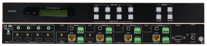 Front & Back Panel Views of MUH44TP Matrix Switcher
