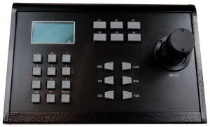 Official Front Panel View of PTZ Camera Control Keyboard