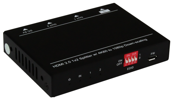 Official Product Photo of 1x2 HDMI Splitter