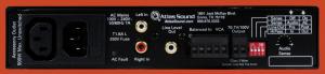 Back Panel View of Atlas 100W Audio Amplifier